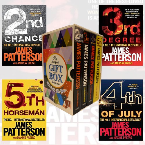Womens Murder Club Series (2-5) James Patterson Collection Books Bundle Gift Wrapped Slipcase Specially For You
