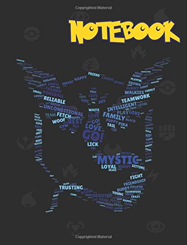Notebook: Team Blue Mystic, Pokemon notebook, Large College Ruled Notebook, (8.5x11 inches ) 120 pages v.79