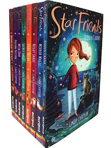 Linda Chapman Star Friends Series 8 Books Collection Set (Mirror Magic, Wish Trap, Poison Potion, Secret Spell, Dark Tricks, Night Shade,Moonlight Mischief) (Children Books, Age 7 to 10, Early Reader)