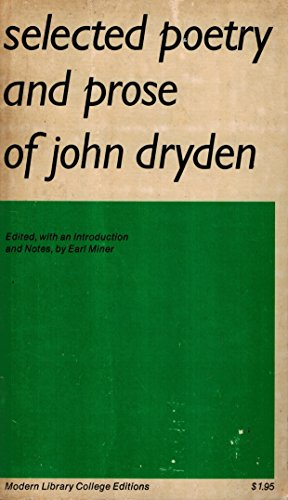 Selected Poetry and Prose of John Dryden