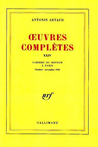 OEUVRES COMPLETES. Tome 24