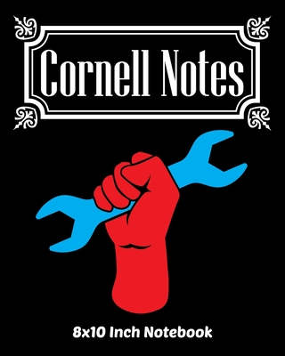 Cornell Notes Notebook: Exercise Book 8 x 10 Inch For Students, Teachers or Workers Salespersons Cashiers Nurses... With Cute Labor Day Raised Fist Design Cover