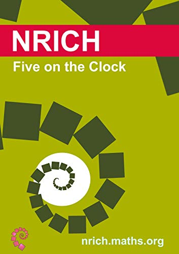 Five on the Clock activity sheet