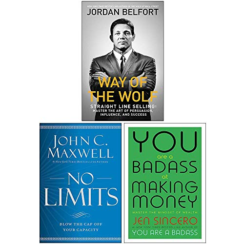 Way of the Wolf, No Limits [Hardcover], You Are a Badass at Making Money 3 Books Collection Set