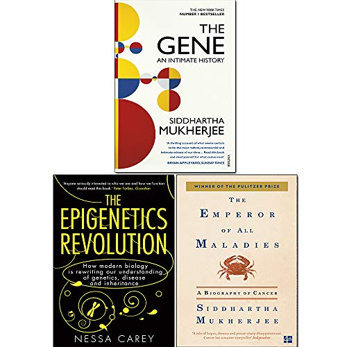 Emperor of All Maladies, Epigenetics Revolution and The Gene 3 Books Collection Set