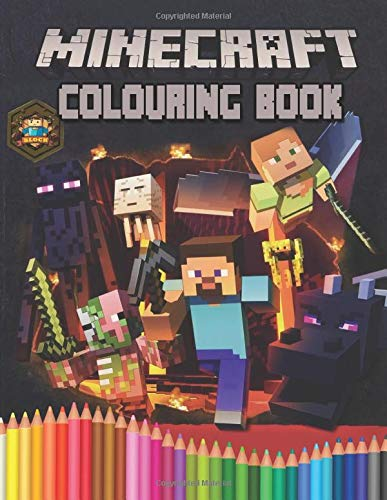 Minecraft Colouring Book: Perfect Gift for Kids That Love Minecraft Game With Over 50 Fantasy Colouring Pages In High-Quality Images In Black And White. Great for Encouraging Creativity