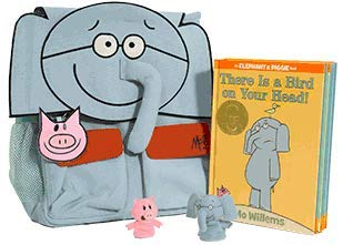 Elephant & Piggie Backpack Bundle (Book and Toy Collection)