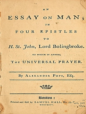 An Essay on Man; In Four Epistles to H. St. John, Lord Bolingbroke