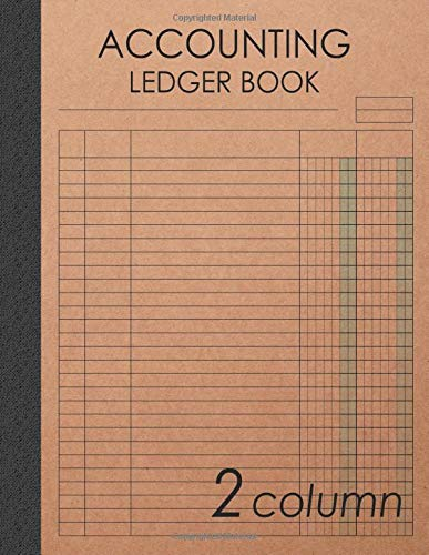 Accounting Ledger Book 2 Column: 120 pages , 8.5 x 11 inches ( large size ) , Brown craft paper style cover : Simple / General Accounting Ledger Book for Bookkeeping (Account Ledger Blank Book)