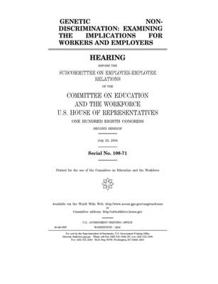 Genetic non-discrimination: examining the implications for workers and employers
