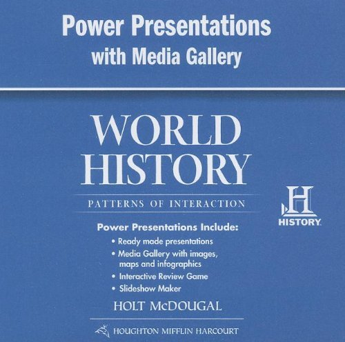 World History: PowerNotes Presentations with Media Gallery DVD-ROM Survey