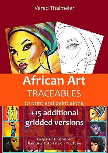 African Art Traceables: To print and paint along
