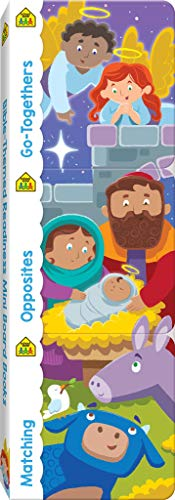 School Zone - Bible-Themed Readiness Mini Board Books 3 Pack - Ages 1 Month and Up, Go-Togethers, Opposites, and Matching, ABCs, Alphabet, and More (Mini Holiday Board Book 3 Pack)