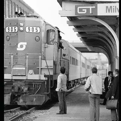 Passenger Train Photographs: Taken in Michigan and Ontario During the Last Quarter of the Twentieth Century - All in Black and White