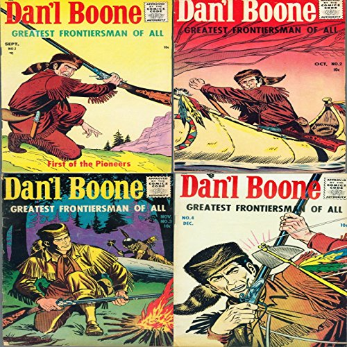 Dan'l Boone. Issues 1, 2, 3 and 4. First of the Pioneers. Greatest frontiersman of all. Digital Sky Comic Compilations Wild West Western