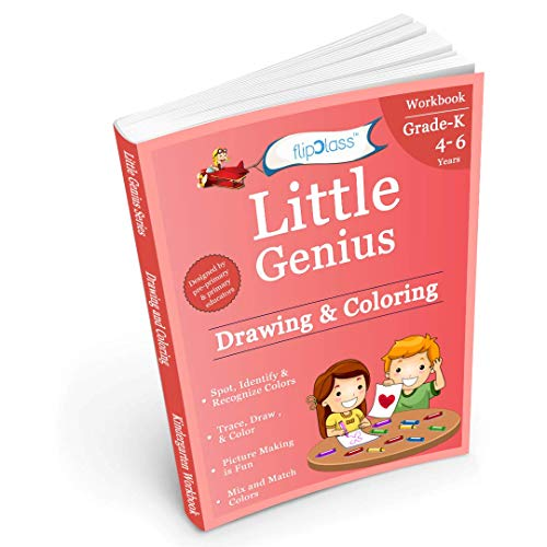 Drawing & Coloring II: Kindergarten Workbook: Little Genius Series: Teaches Color Recognition, Color Mixing and Matching, Graphic Dictation with Multiple Fun Learning Activities (4-6 years)