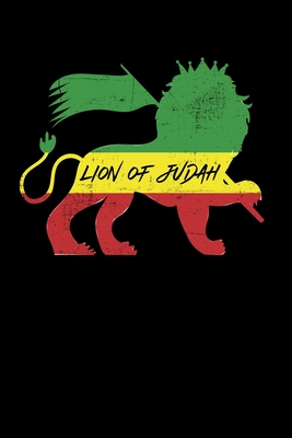 Lion Of Judah: Gift idea for reggae lovers and jamaican music addicts. 6 x 9 inches - 100 pages