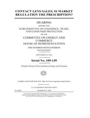 Contact lens sales: is market regulation the prescription?