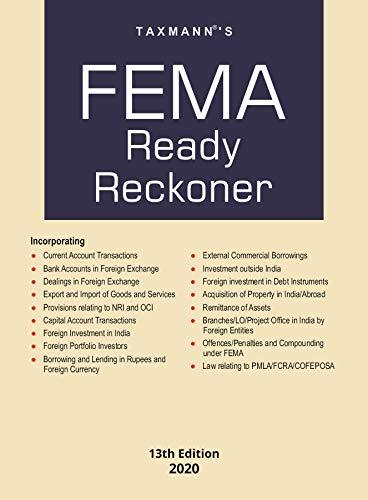 Taxmann's FEMA Ready Reckoner (13th Edition 2020)