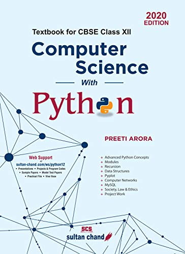 Computer Science with Python: Textbook for CBSE Class 12 (2020-21)