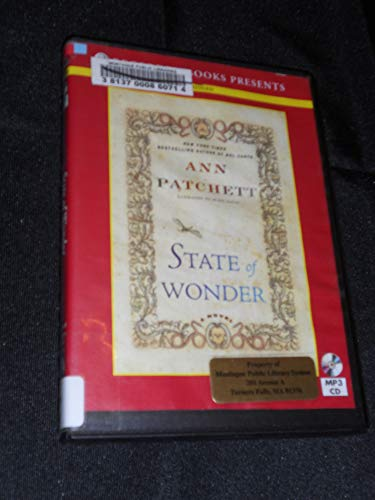 State of Wonder by Ann Patchett Unabridged MP3 CD Audiobook