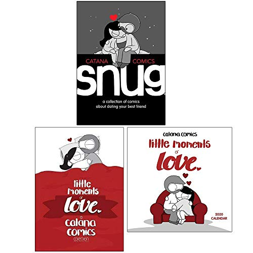 Snug: A Collection of Comics about Dating Your Best Friend, Little Moments of Love, Catana Comics Little Moments of Love 2020 Square Wall Calendar By Catana Chetwynd 3 Books Collection Set