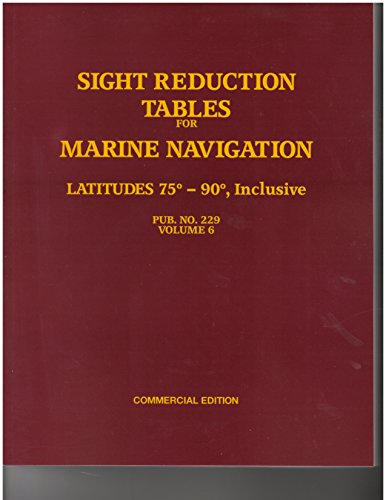 Sight Reduction Tables For Marin Navigation Pub. No. 229 Volume 6 75-90 Inclusive