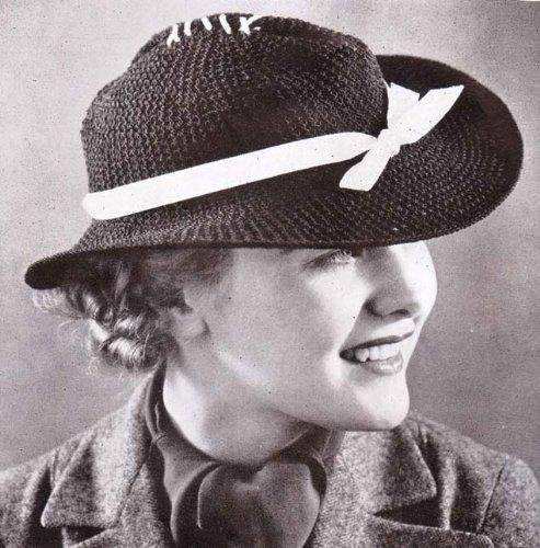 Western Brim Hat Vintage Crochet Pattern EBook Download