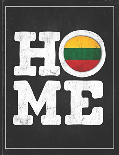 Home: Lithuania Flag Planner for Lithuanian Coworker Friend from Vilnius Undated Planner Daily Weekly Monthly Calendar Organizer Journal