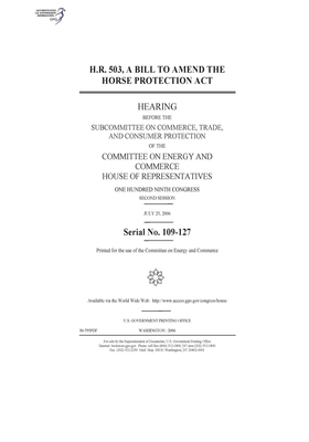 H.R. 503, a bill to amend the Horse Protection Act