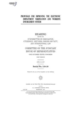 Proposals for improving the electronic employment verification and worksite enforcement system