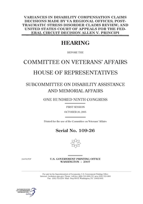 Variances in disability compensation claims decisions made by VA regional offices, post-traumatic stress disorder claims review, and United States Court of Appeals for the Federal Circuit decision Allen v. Principi
