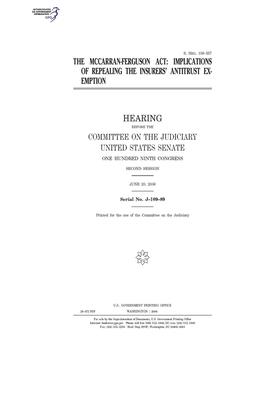 The McCarran-Ferguson Act: implications of repealing the insurers' antitrust exemption