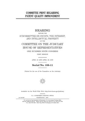 Committee print regarding patent quality improvement