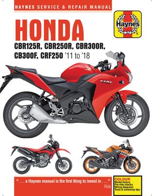 Honda CBR125R, CBR250R, CBR300$, CB300F & CRF250, '11 to '18: '11 to '18