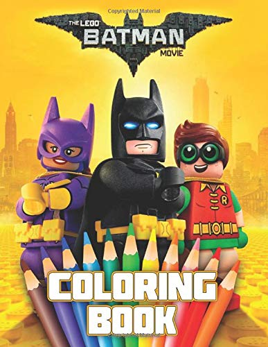 LEGO BATMAN MOVIE Coloring Book: 37 Awesome Illustrations for Kids