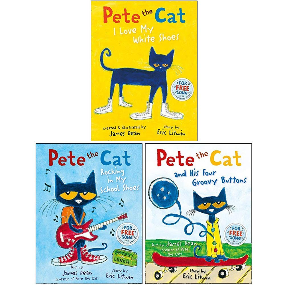 The Pete the Cat Series 3 Books Collection Set By Eric Litwin