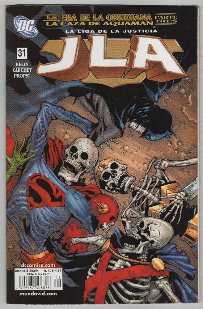 La Liga de la Justicia Tomo 31: La Era de Obsidiana - La caza de Aquaman, parte tres (JLA: Liga de la Justicia de Editorial Vid #31)