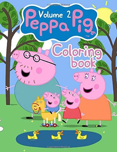 Peppa Pig Coloring Book: Over 50 Design Wonder Peppa Pig Coloring Book Pages & Markers, Mess Free Coloring, Gift for Kids - Vol 2