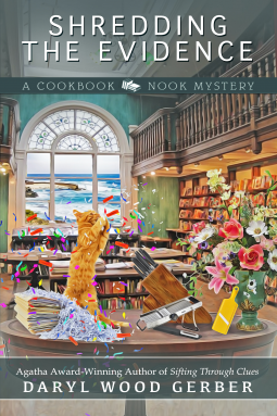 Shredding the Evidence (Cookbook Nook Mystery, #9)
