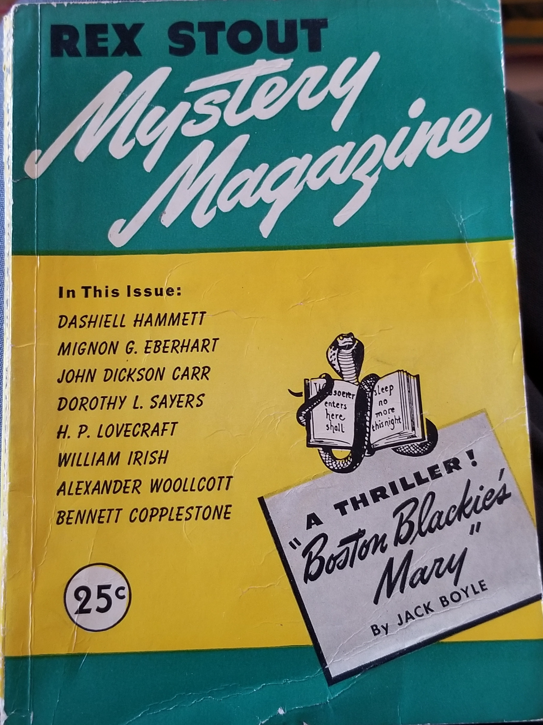 Rex Stout Mystery Magazine No. 3