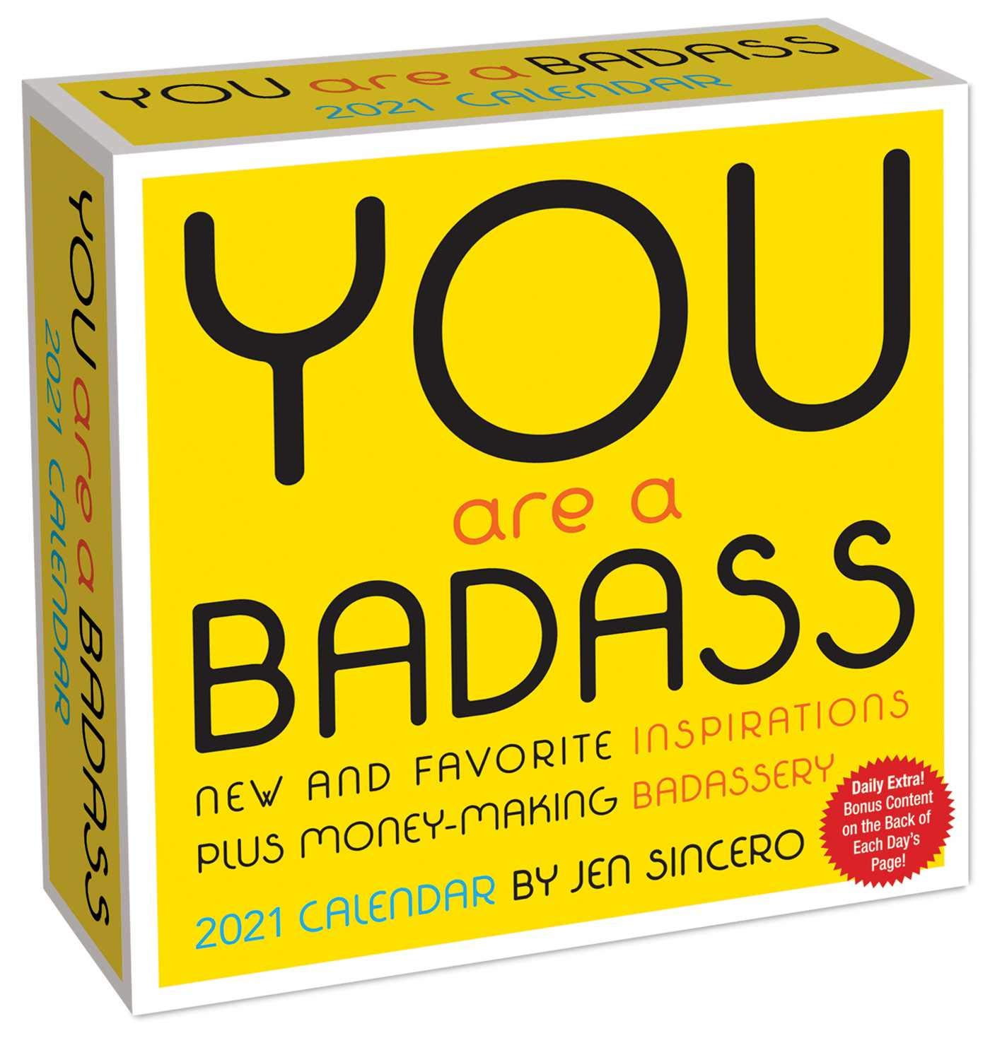You Are a Badass 2021 Day-to-Day Calendar