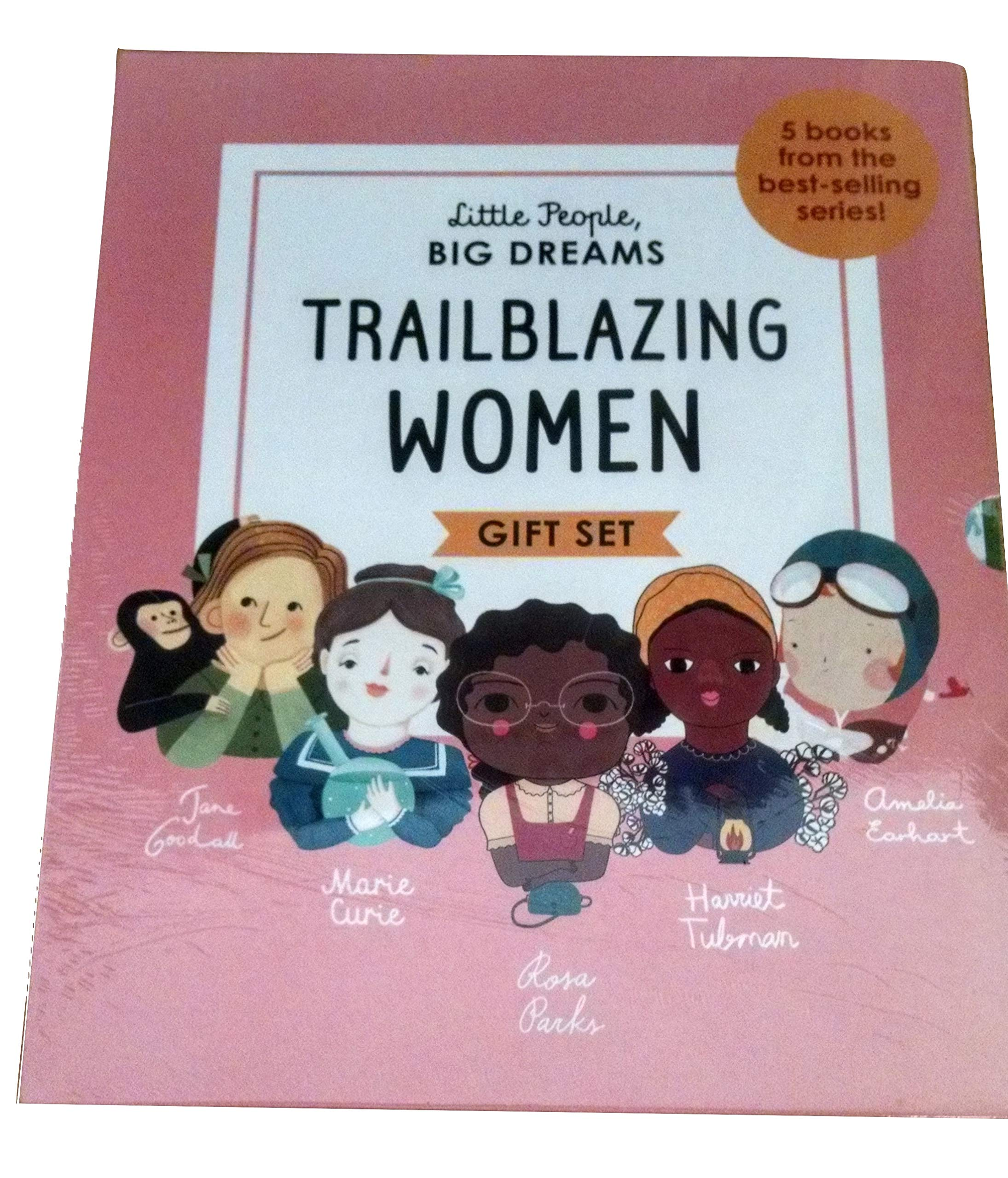 Trailblazing Women Boxed Gift Set: Rosa Parks, Amelia Earhart, Harriet Tubman, Jane Goodall and Marie Curie