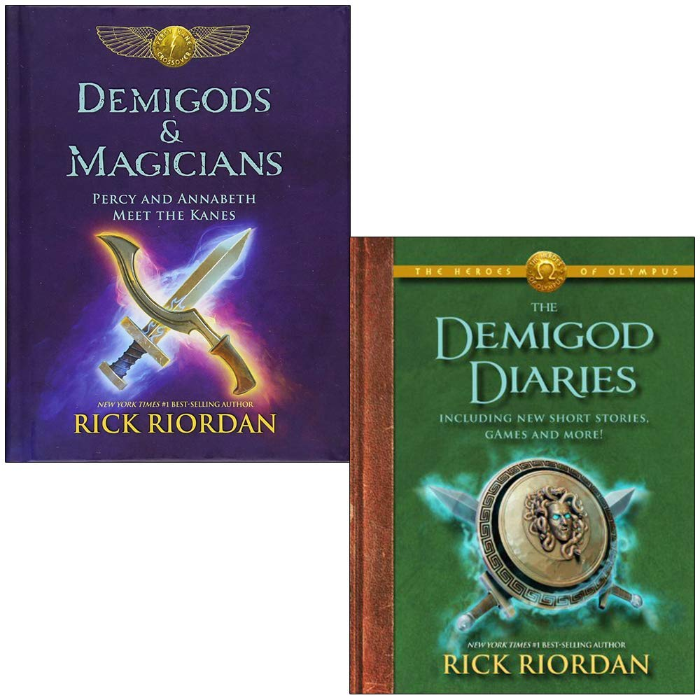 Demigods & Magicians: Percy and Annabeth Meet the Kanes & The Heroes of Olympus the Demigod Diaries 2 Books Collection Set