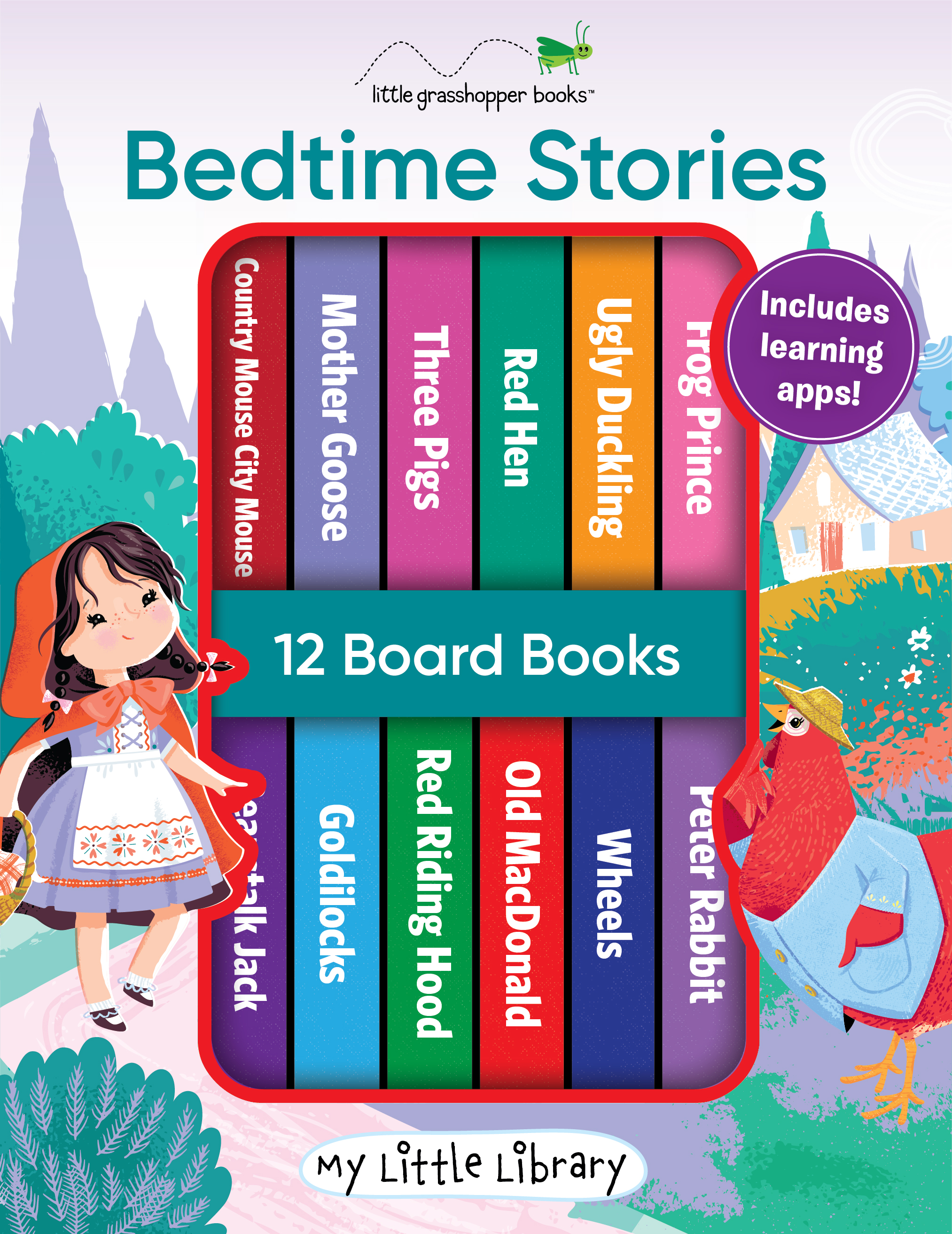 My Little Library: Bedtime Stories (12 Board Books 3 Downloadable Apps!)