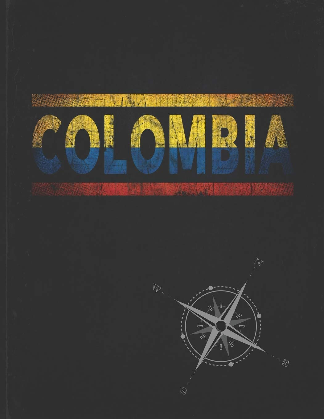 Colombia: Personalized Gift for Colombian Friend for Travel Lightly Lined Pages Daily Journal Diary Notepad