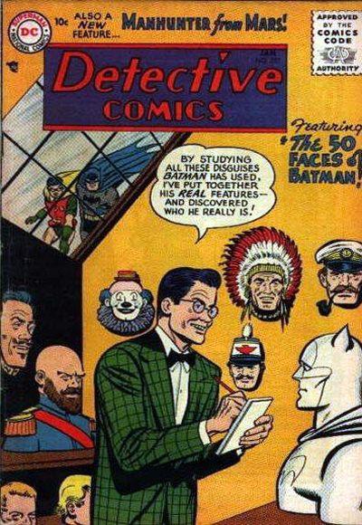 """Detective Comics 1937 #227: """"The 50 Faces of Batman"""""""