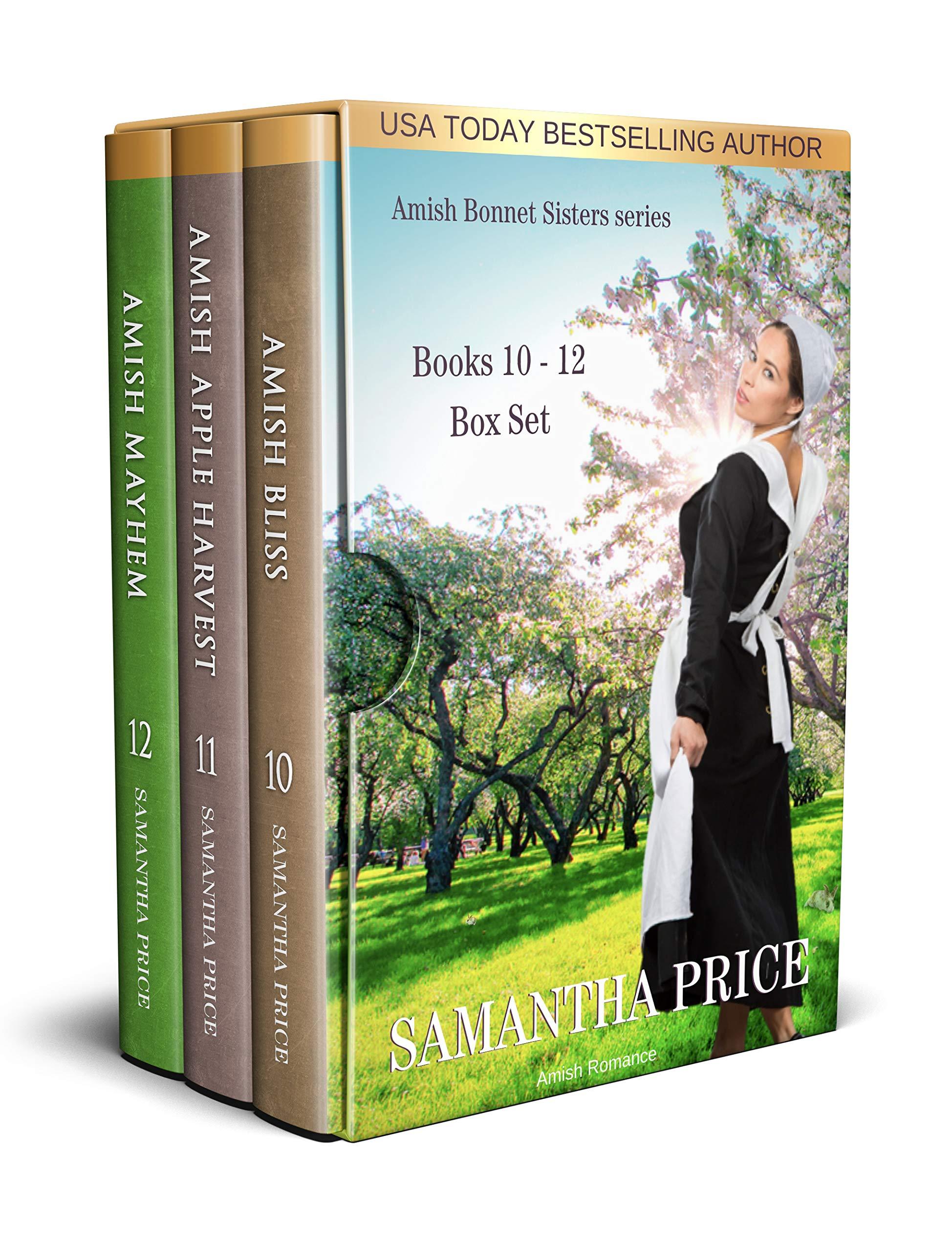 The Amish Bonnet Sisters series: Books 10-12 (Amish Bliss, Amish Apple Harvest, Amish Mayhem): Amish Romance (The Amish Bonnet Sisters Box Set Book 4)