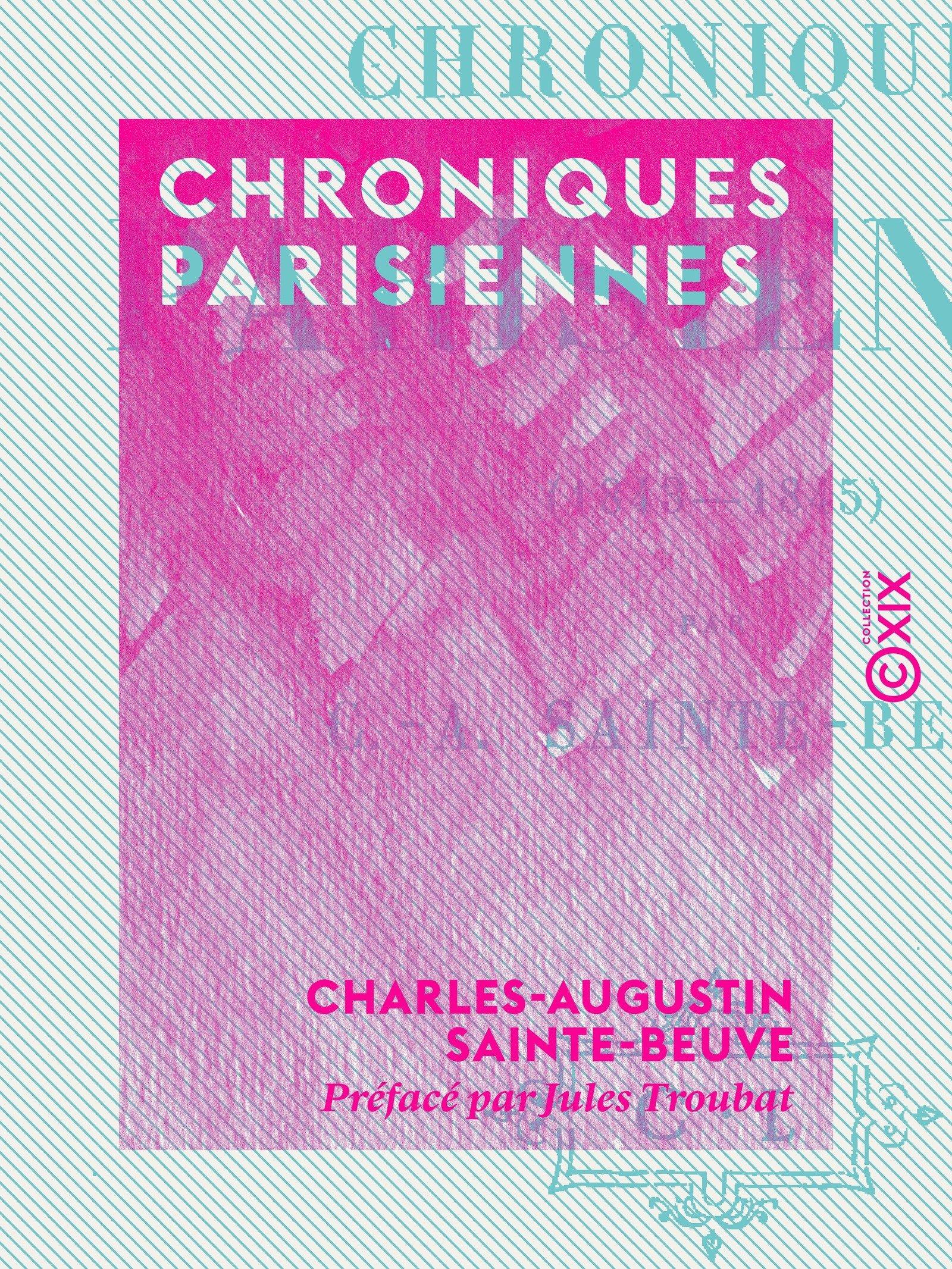 Chroniques parisiennes (1843-1845)