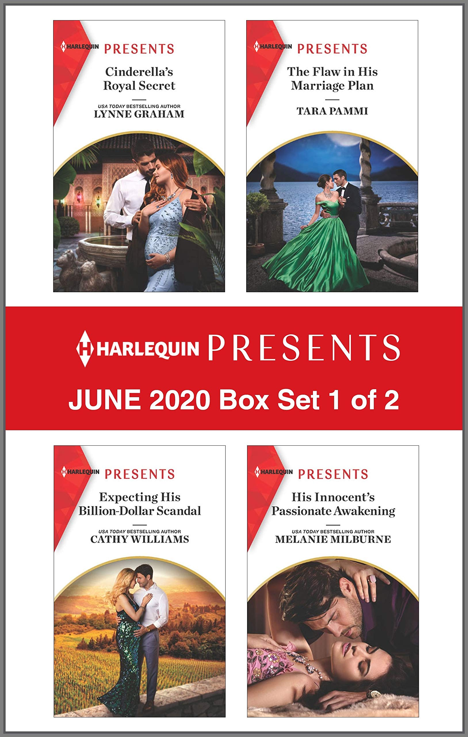Harlequin Presents - June 2020 - Box Set 1 of 2: Cinderella's Royal Secret\Expecting His Billion-Dollar Scandal\The Flaw In His Marriage Plan\His Innocent's Passionate Awakening